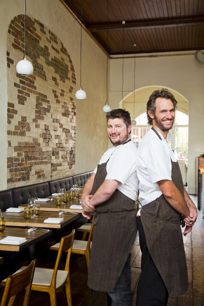 Joe Grbac (lrechts) und Scott Pickett ( beide Besitzer und Küchenchef), Restaurant Saint Crispin, Melbourne, Australien