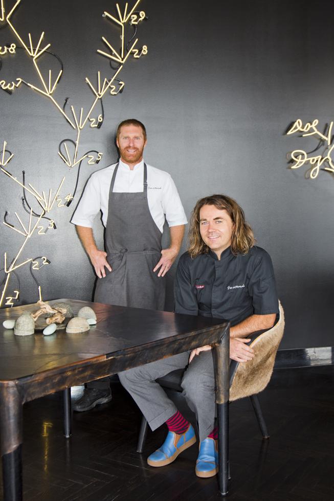 Shannon Bennett (rechts, Besitzer) und Cory Campbell (Küchenchef), Vue de Monde Restaurant,  Melbourne, Australien