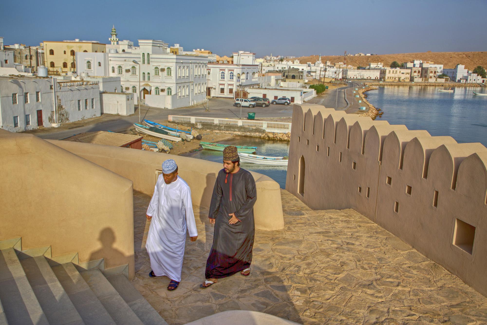 Arabische Halbinsel, Sultanat Oman, Fischerboote, Stadt Sur am Golf von Oman,