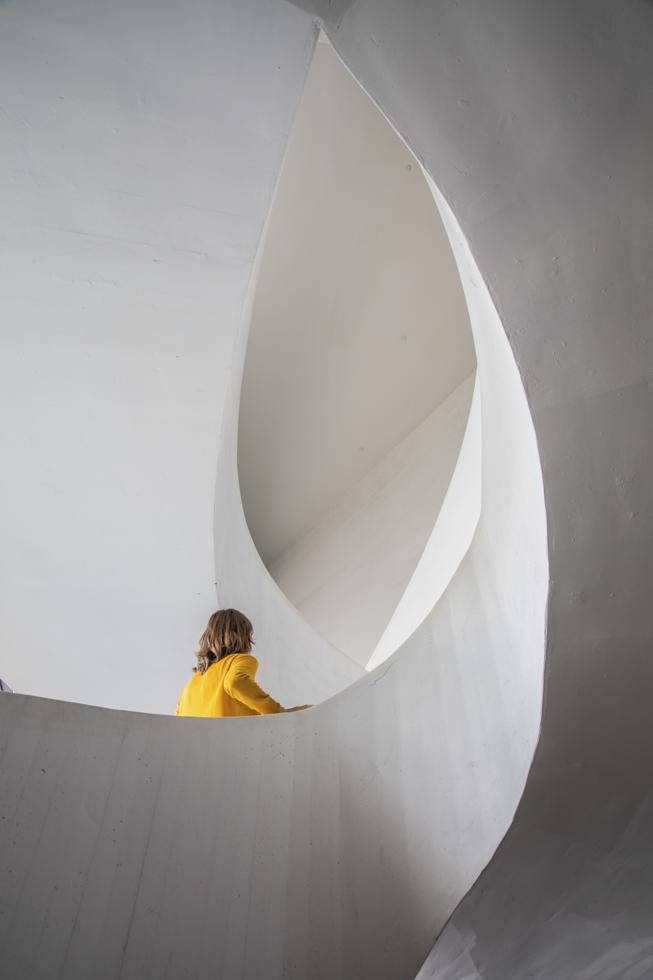 Finnland, Helsinki, Kiasma, Museum für Zeitgenössische Kunst, Treppenhaus