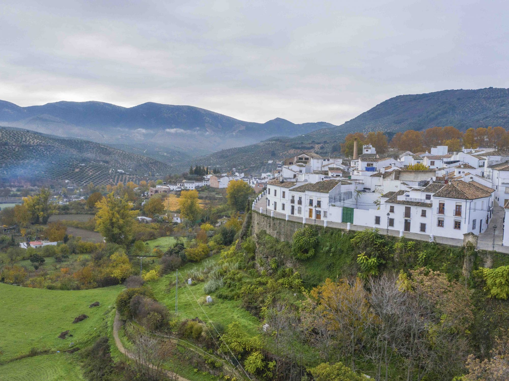 Spanien Andalusien, Provinz Cordoba, Priego de Cordoba  umgeben von Olivenhainen.