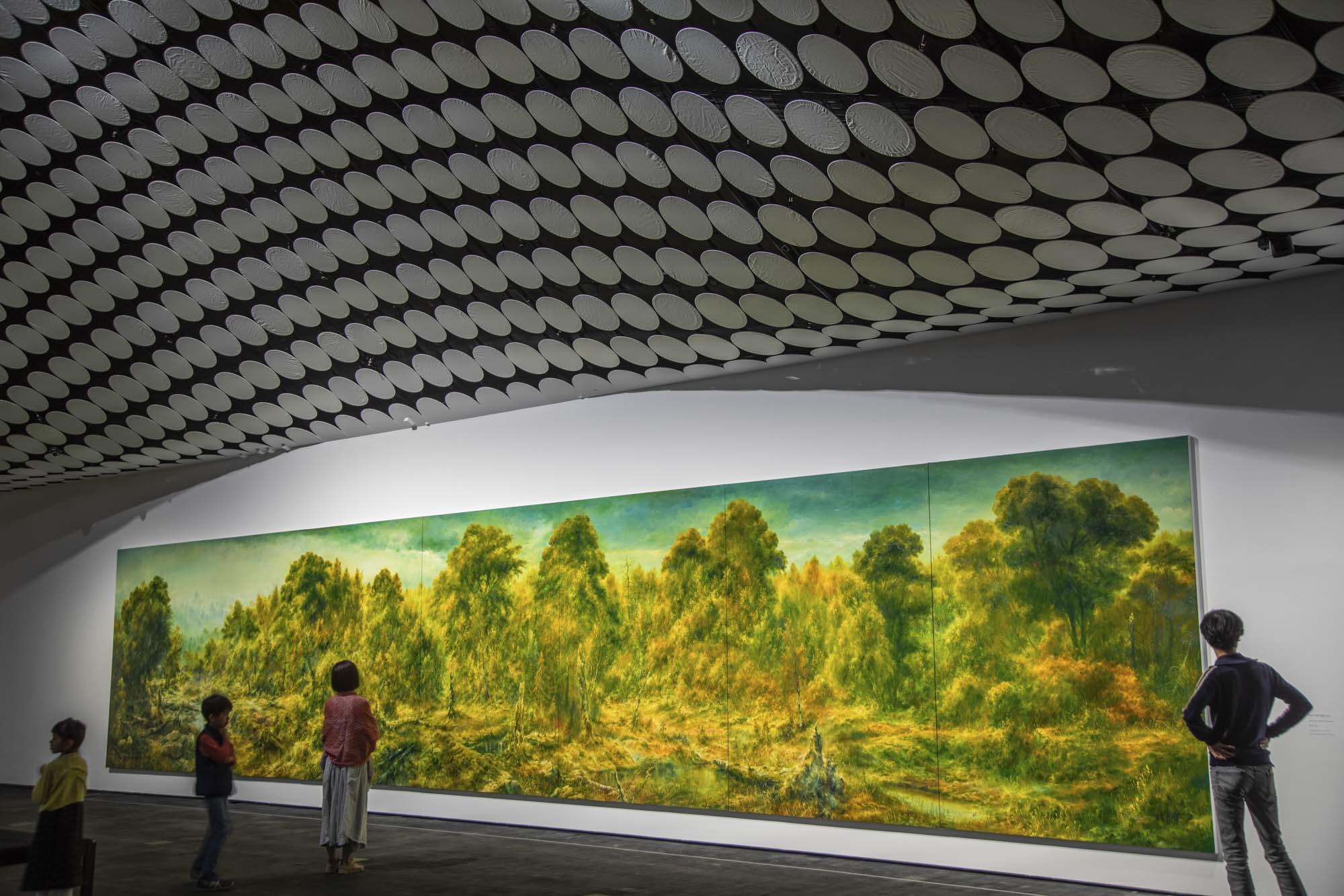 Finnland, Helsinki, Amos Rex im Lasipalatsi, unterirdisches Amos Anderson Museum, riesiges Gemälde von Petri Ala-Maunus