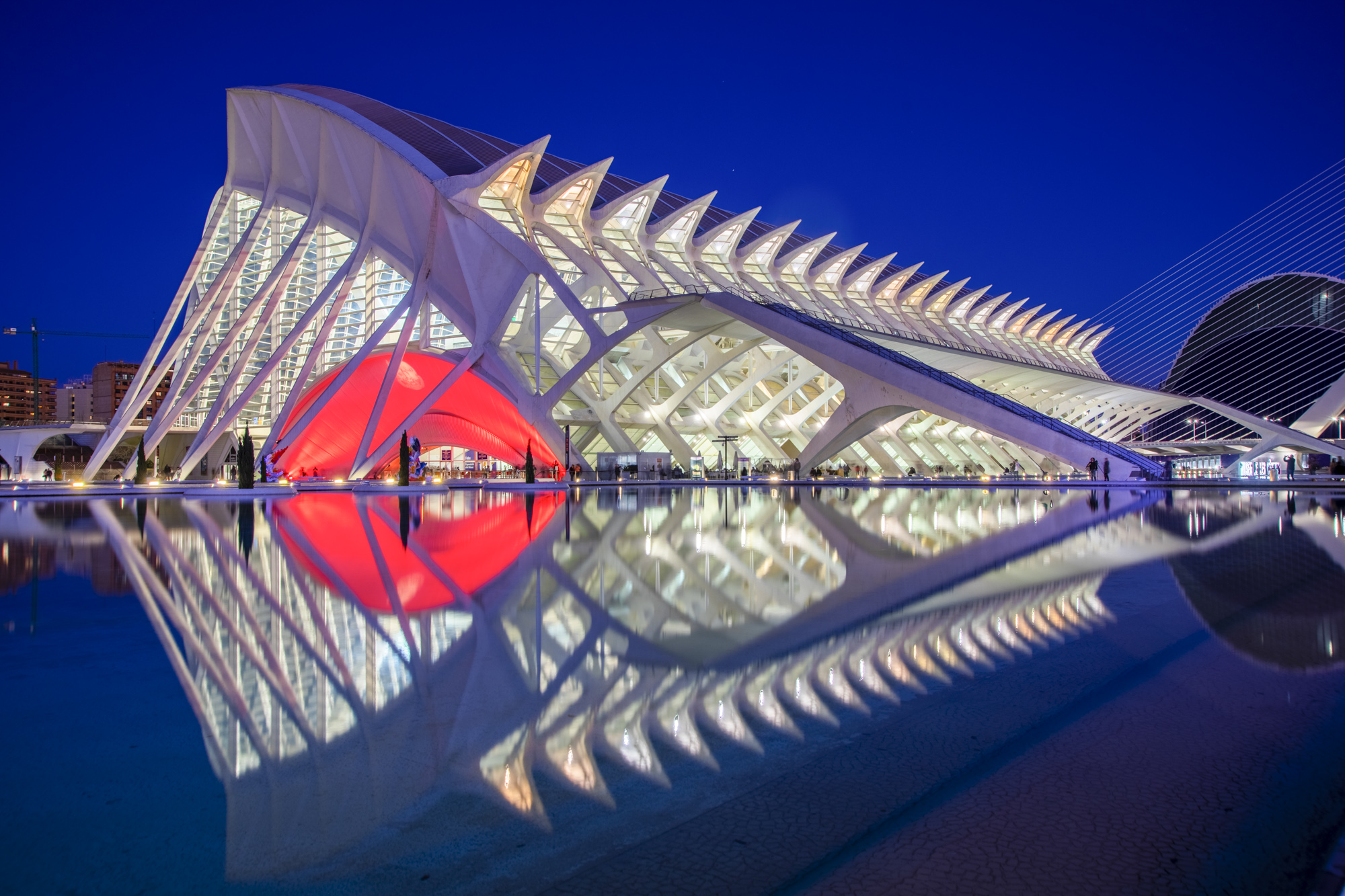 Spanien, Valencia, Ciutat de les Arts i les Ciències, Stadt der Künste und Wissenschaften,