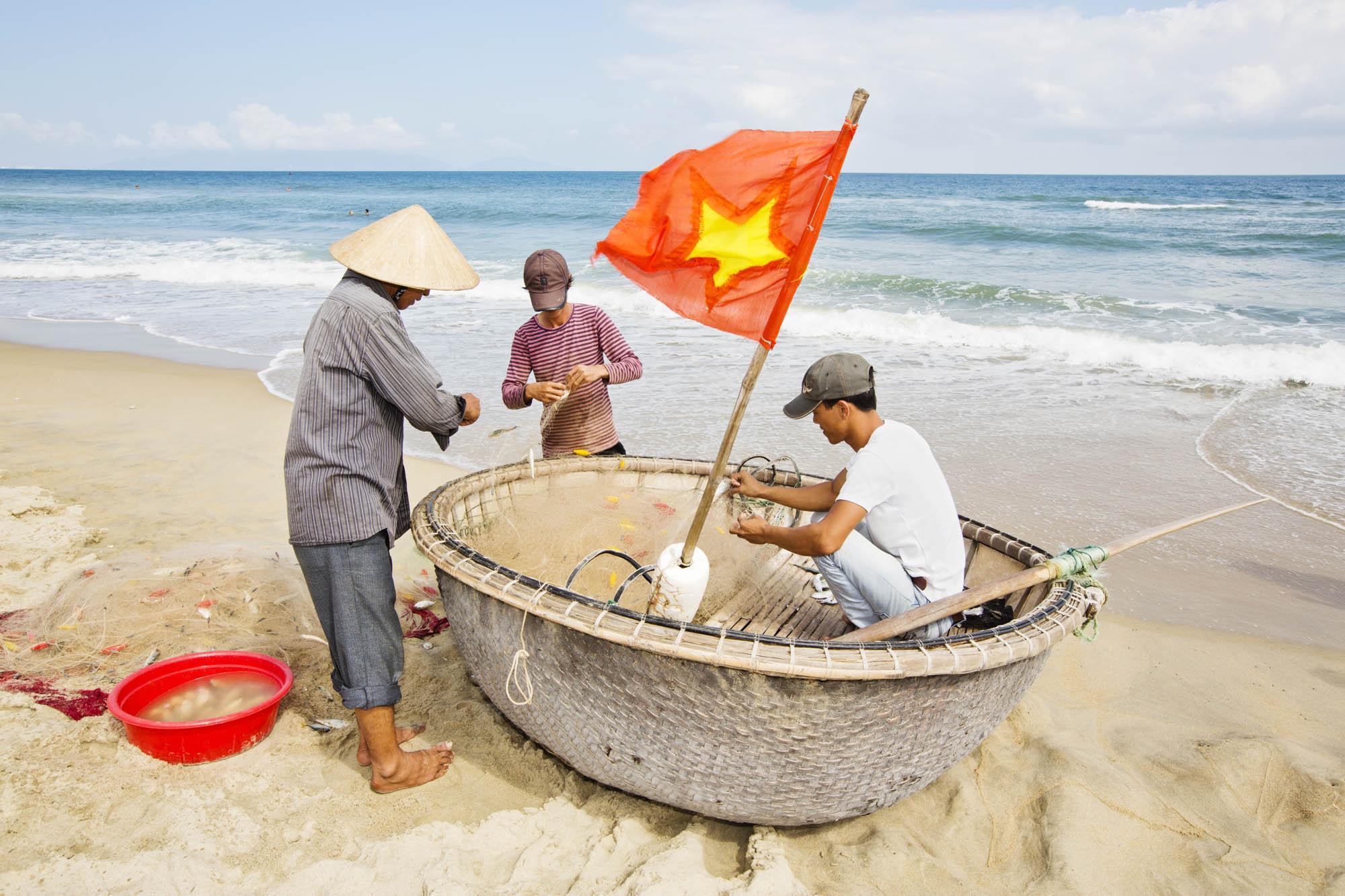 Asien, Vietnam, Hoi An,  Fischerboot