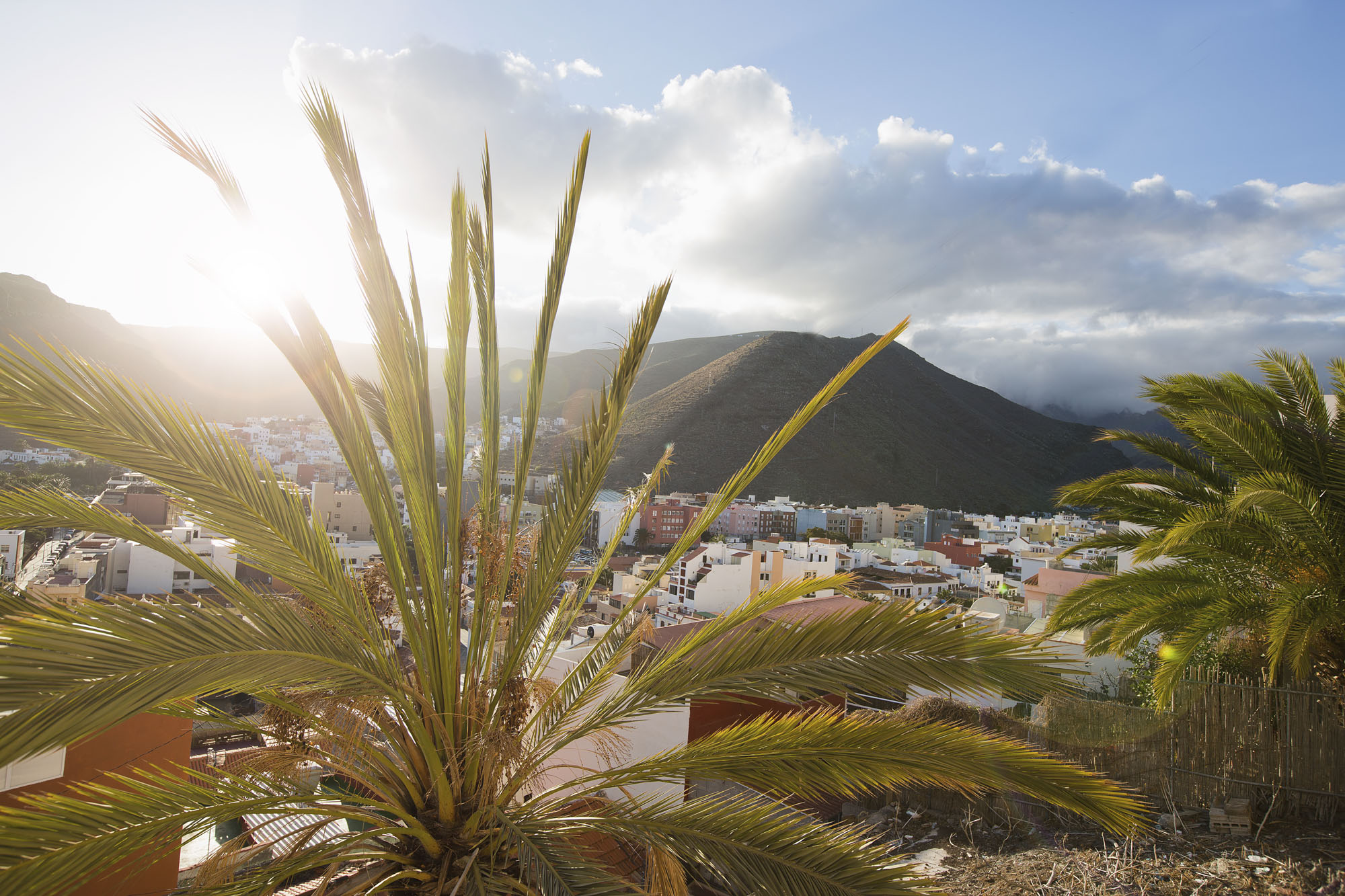 Spanien, Kanarische Inseln, La Gomera, San Sebastian de La Gomera, Inselhauptstadt, Blick über die Stadt