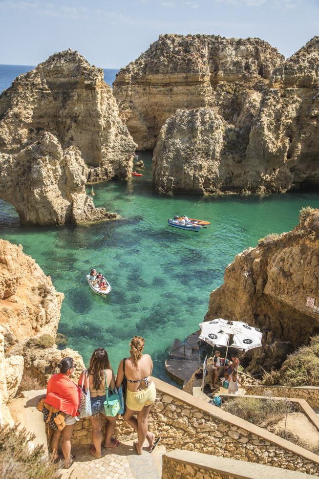 Portugal, Algarve, Atlantikküste, Nähe Lagos, Ponta da Piedade, Felsen, Klippen