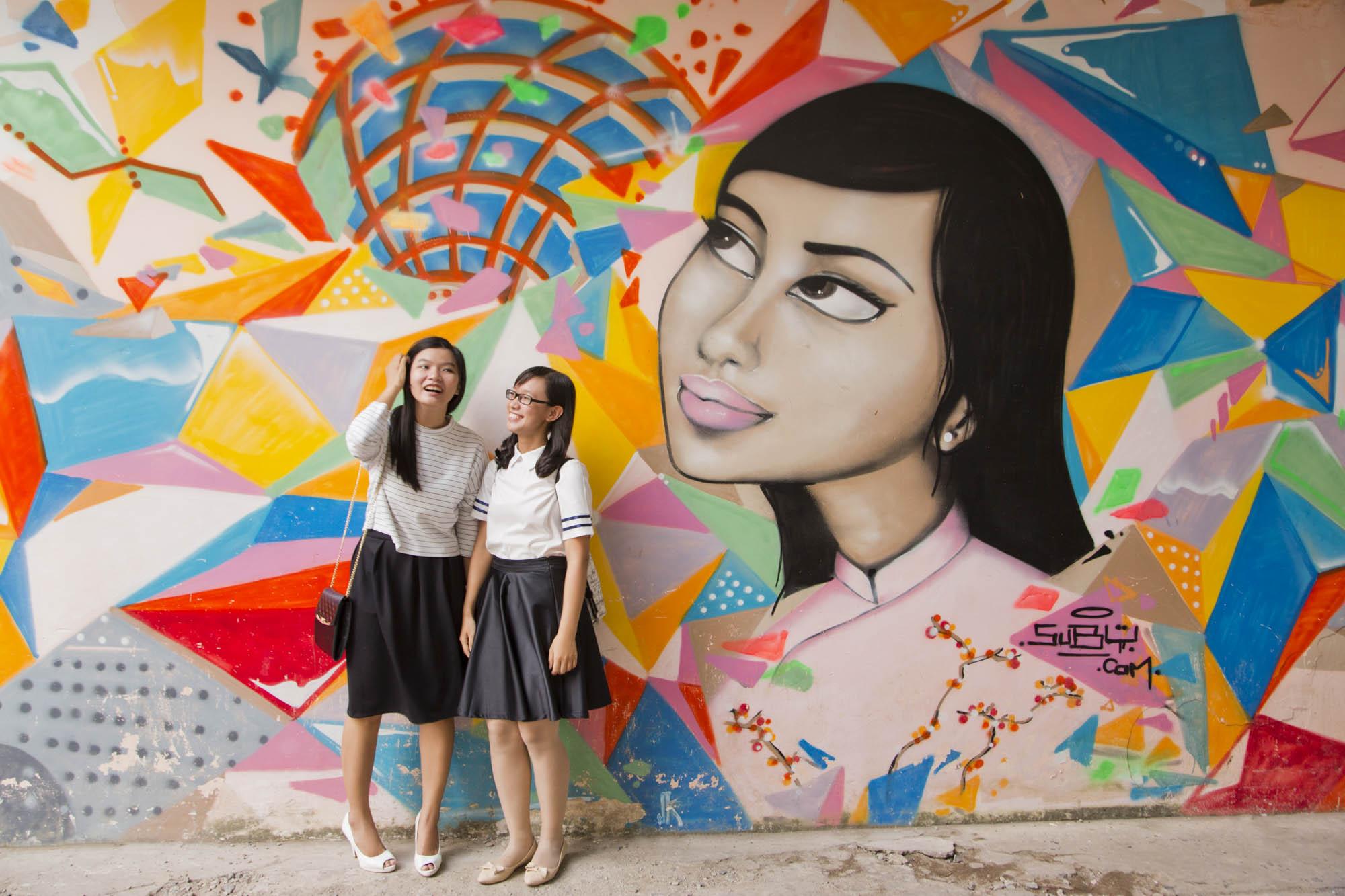 Asien, Vietnam, Saigon, Ho Chi Minh Stadt, Grafitti, modernes Vietnam