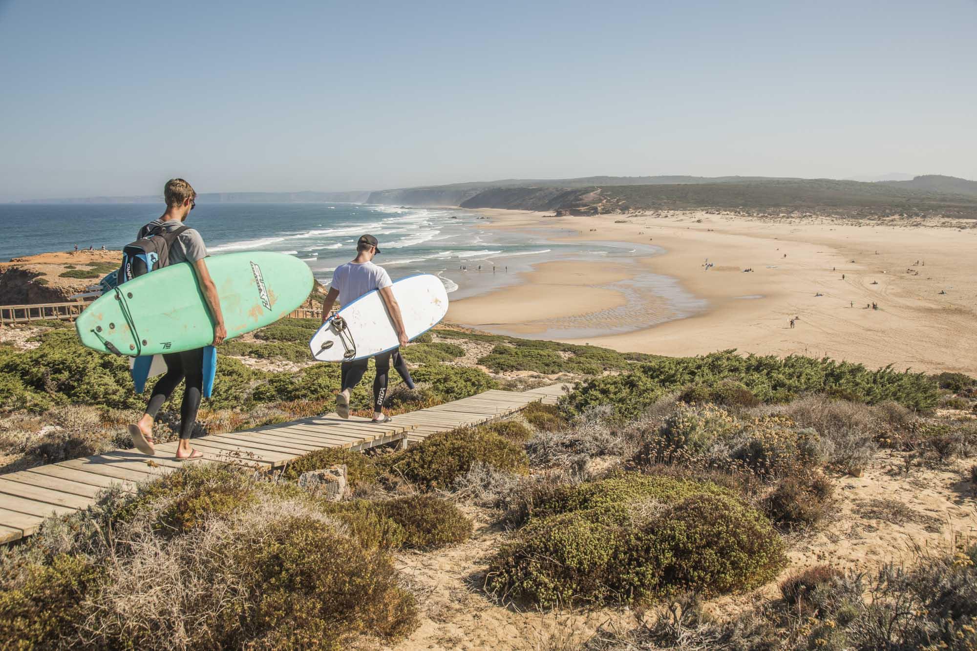 Portugal, Algarve, Atlantikküste, Costa Vicentina, Nähe Aljezur, Carrapateira, Praia da Bordeira