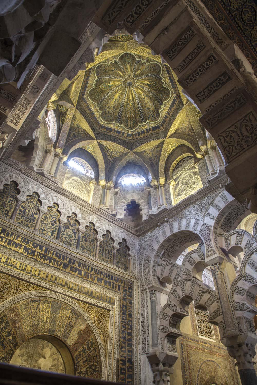 Spanien, Cordoba, Moschee-Kathedrale, Mirhab, muschelförmige Kuppel, Religion, Glauben, Islam