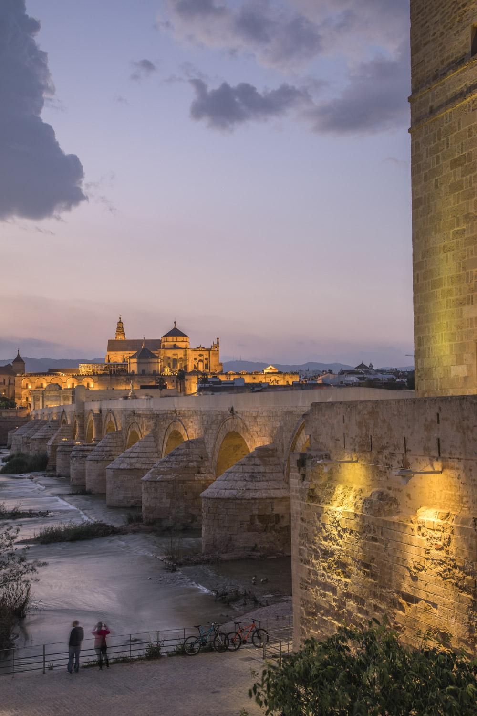 Spanien, Andalusien, Cordoba, Altstadt, Torre Calahorra, Puente Romano, römerbrücke, blaue Stunde