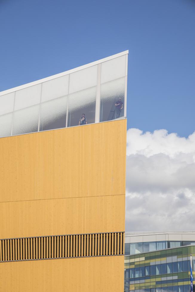Finnland, Helsinki, Zentralbibliothek Oodi, Fassade, Architekten: ALA Architekts