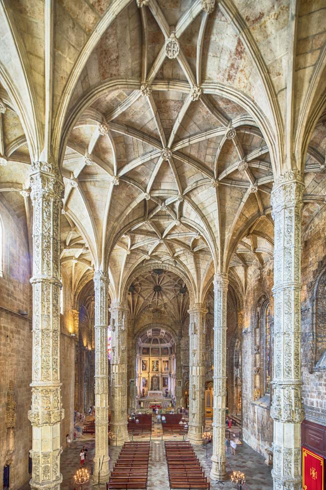 Portugal, Lissabon, Lissabon, Belem Viertel, Mosteiro dos Jeronimus, Hieronymus-Kloster in Belém, UNESCO Weltkulturerbe, Kirche Igreja de Santa Maria